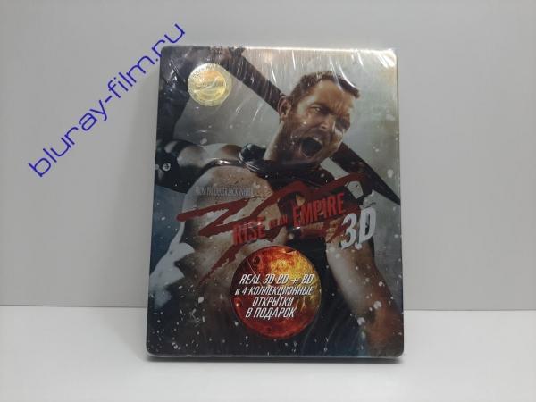 300 спартанцев: Расцвет империи 3D и 2D (2 Blu-ray) (Метал. бокс)
